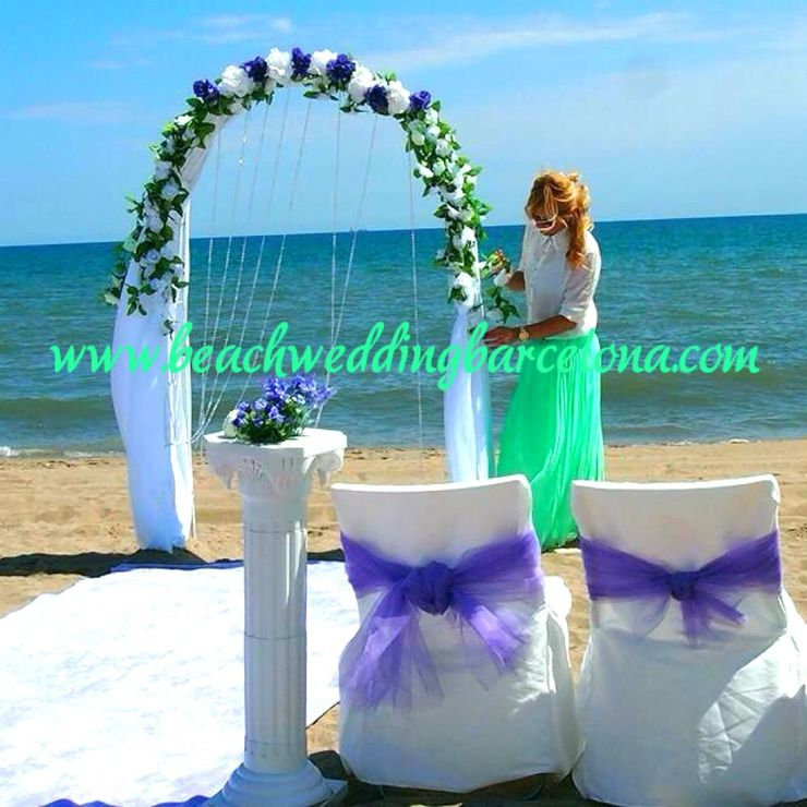 Romantic ceremony in lilac color