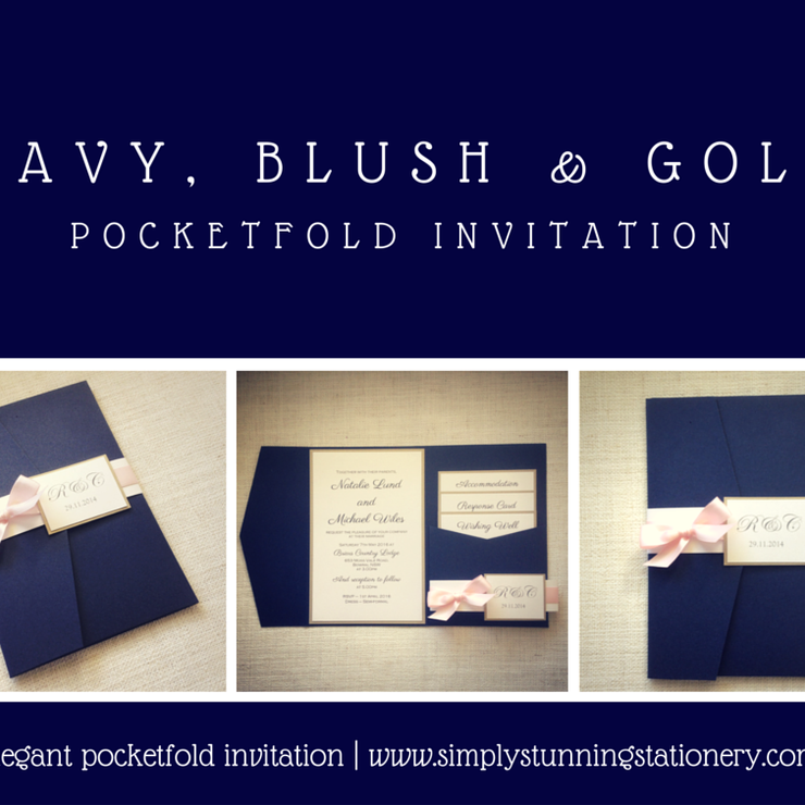 Navy Blue Invitations