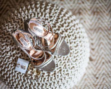 Grey wedding shoes