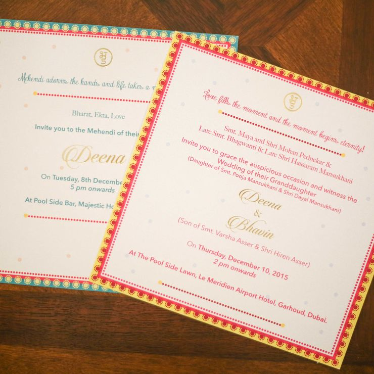 Deena Wedding Cards