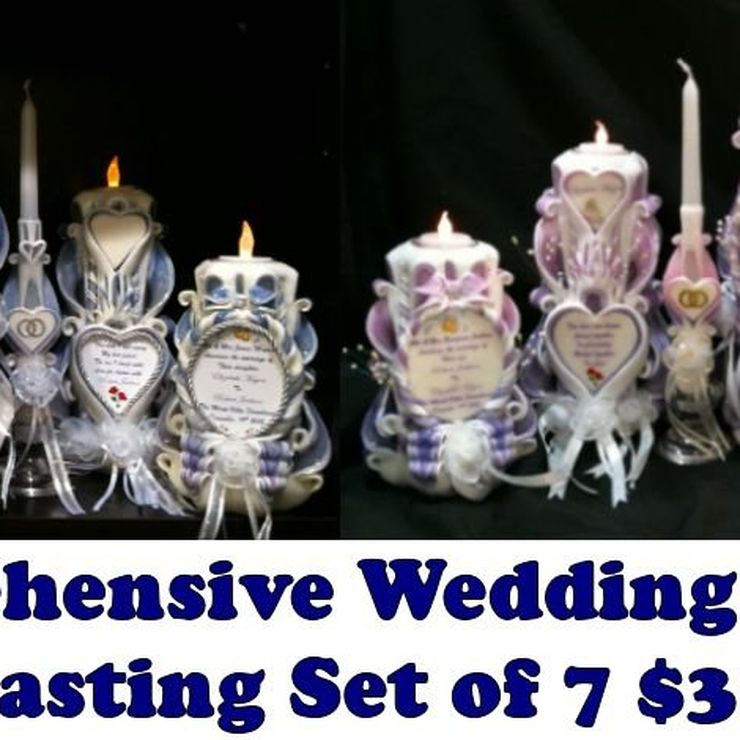EVERLASTING WEDDING CANDLE SET OF 7