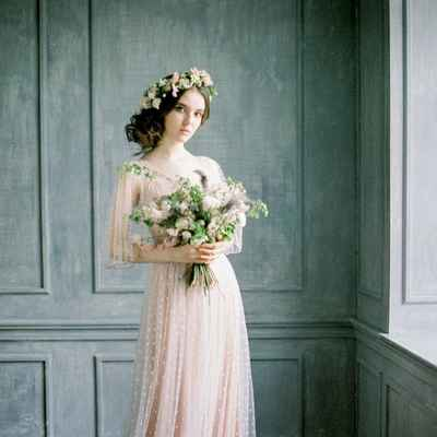 Overseas pink long wedding dresses