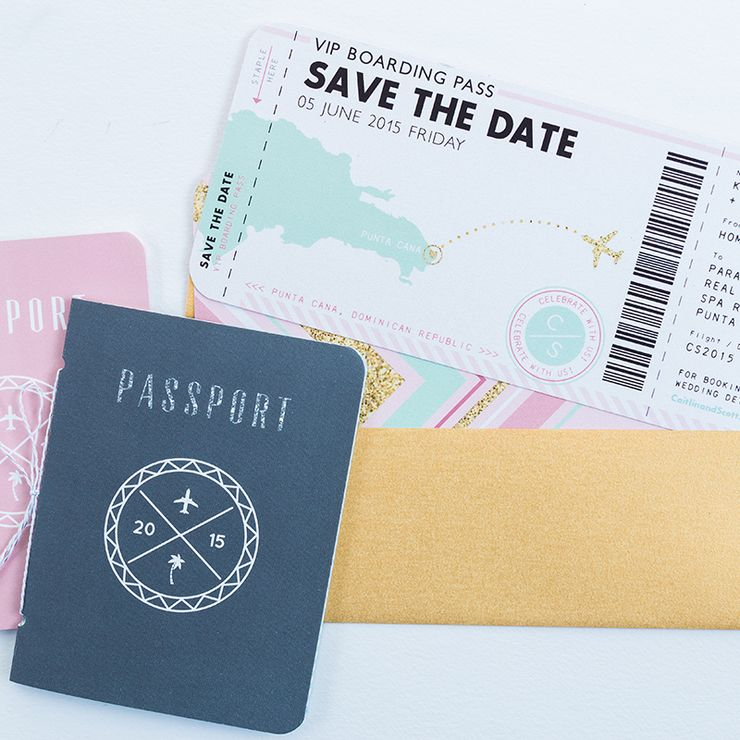 Destination Wedding Passport Invitation Suite