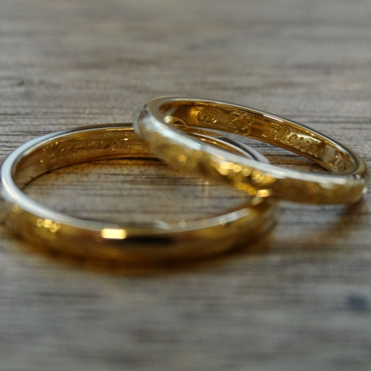 Hand Engraved Wedding Rings