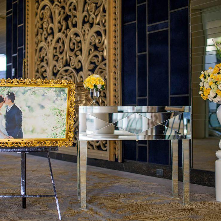 Emil & Dante Yellow Simple Indoor Wedding