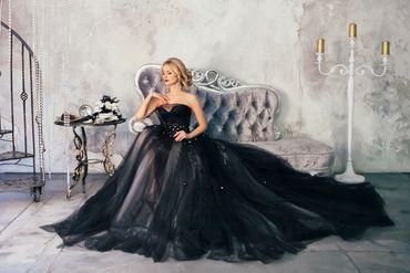 Overseas black long wedding dresses