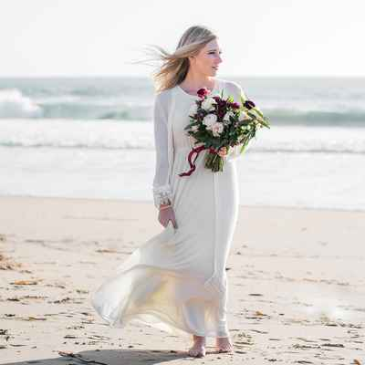 Beach long wedding dresses