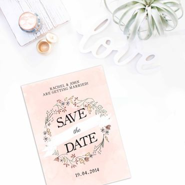 Pink wedding invitations