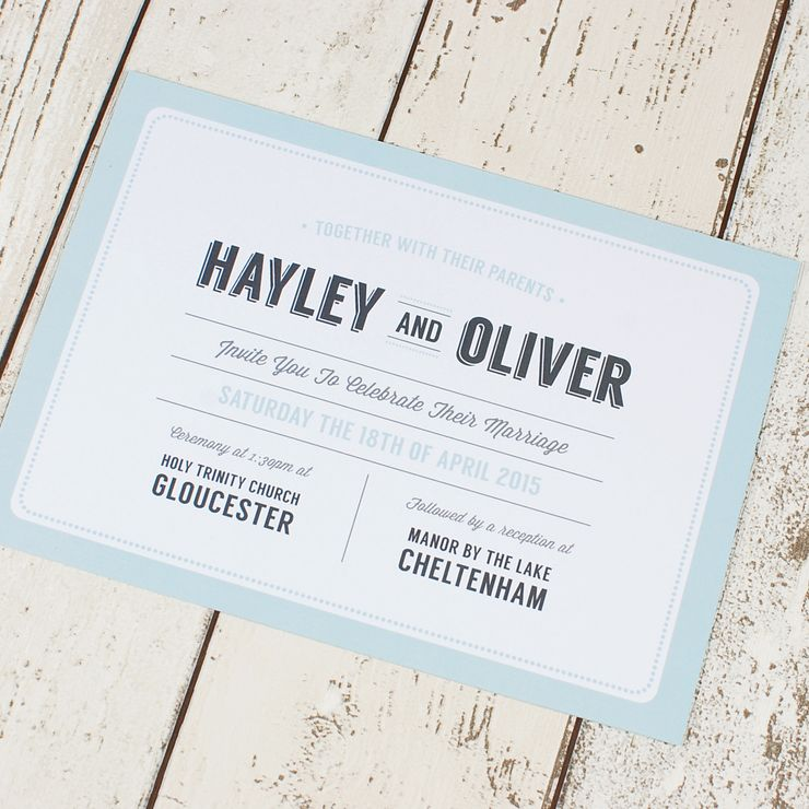 Vintage Typography Invitations