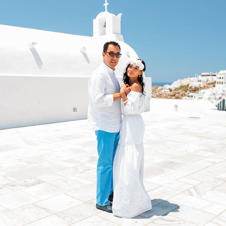 Zhuldyz & Serikbai - Santorini Greece