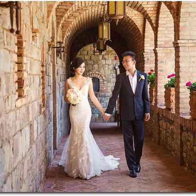 Ivory overseas long wedding dresses