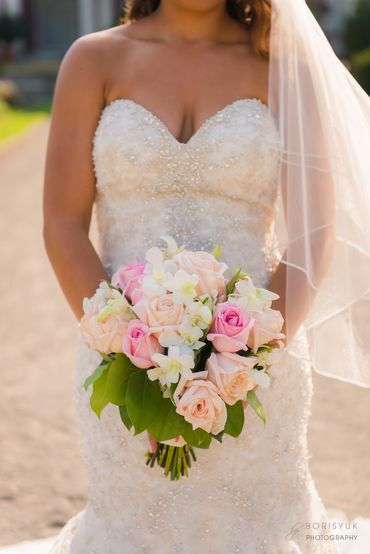 White rose wedding bouquet