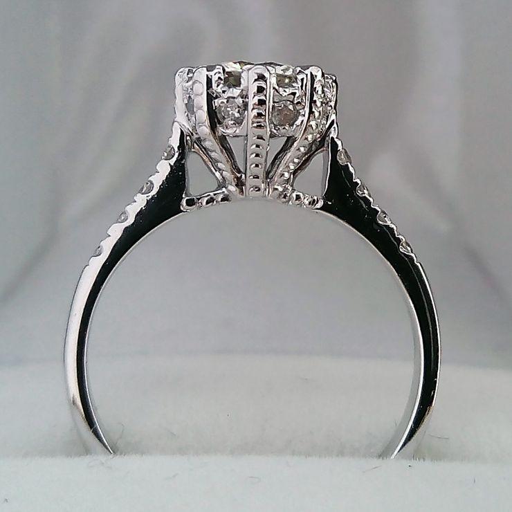 0.80ct. center Diamond