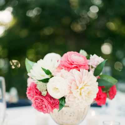 Outdoor wedding floral decor