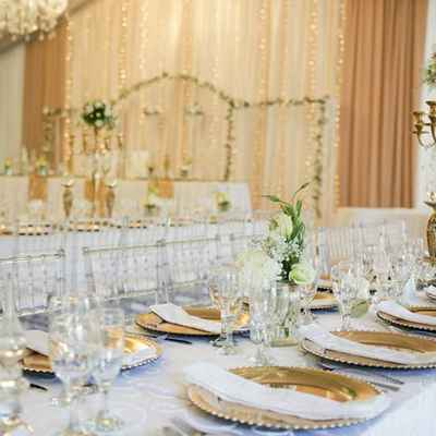 Overseas wedding reception decor