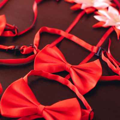 Red wedding headpieces, veils, cover-ups & brooches