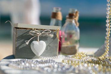 Beach wedding ceremony decor