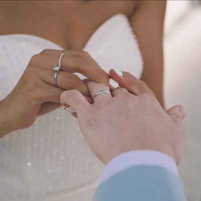 White wedding rings
