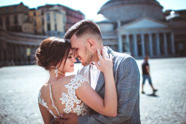 Blue outdoor bridal hair and make-up