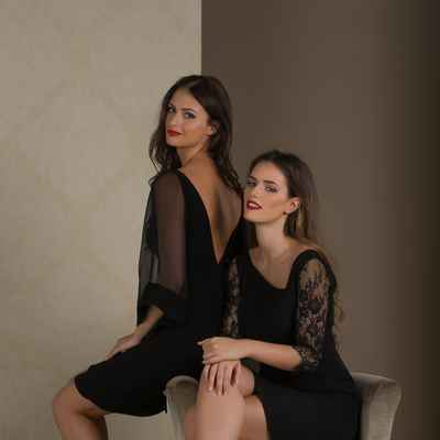 Black short wedding dresses