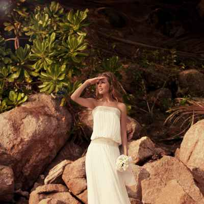 Mediterranean long wedding dresses