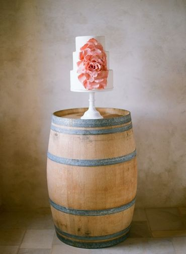 French pink wedding cakes