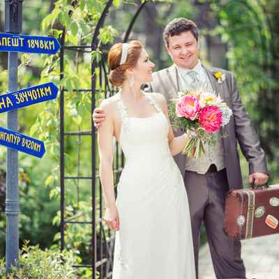 Mediterranean summer wedding signs