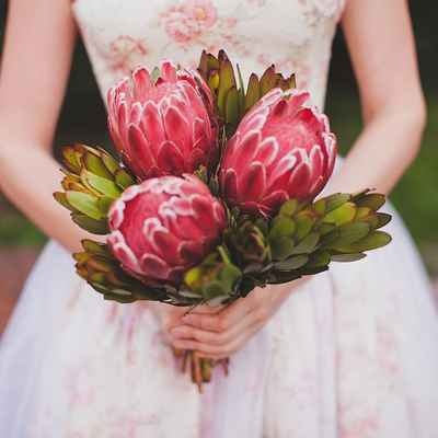 Rustic pink alternative wedding bouquet
