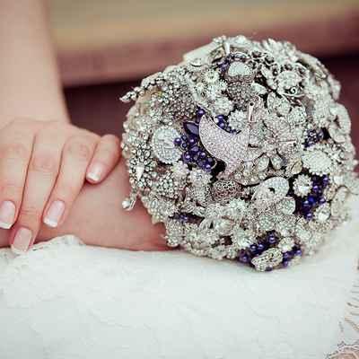 French blue alternative wedding bouquet