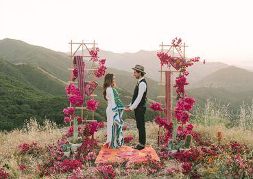 Rustic pink real weddings